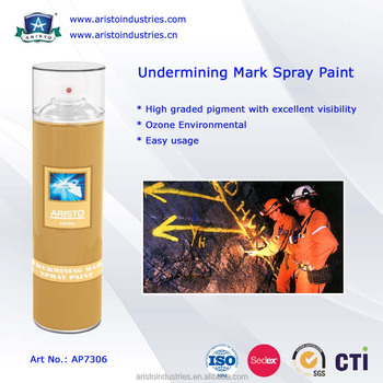 Aristo Under-Mine Marking Paint / Mine Marking Out Paint & Non-Flammable Layout Marker