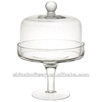 small glass bell jar pedestal cake dome glass view cake dome glass holiway product details. Black Bedroom Furniture Sets. Home Design Ideas