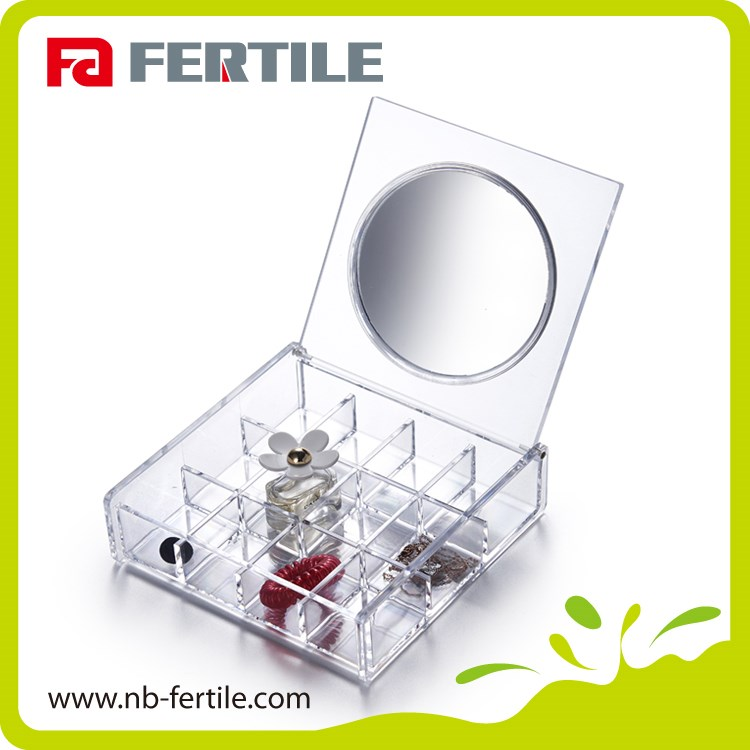 FERTILE competitive price ps/acrylic makeup organizer with mirror makeup rack