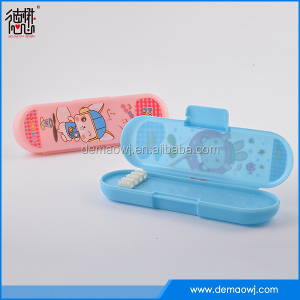 New design pen packaging kids cartoon printing plastic fancy pencil box