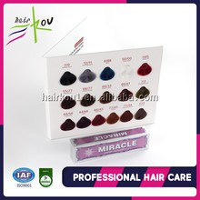 Permanent salon natural hair dye double pigment hair color herbal non allergic with GMPC/ISO/MSDS certification hair dye color