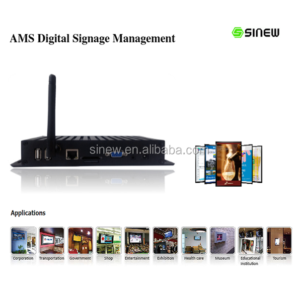 Advertising 1080p full HD live Video AMS Digital Signage Equipment