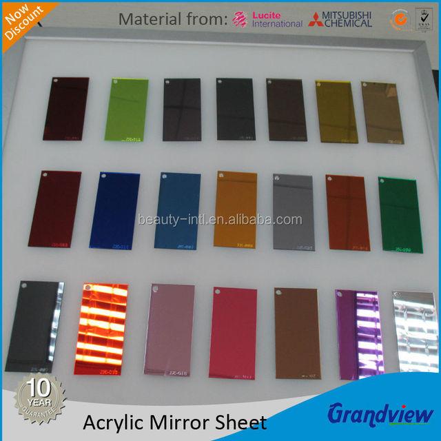 2mm 2 Ways Color Mirror Acrylic Sheet