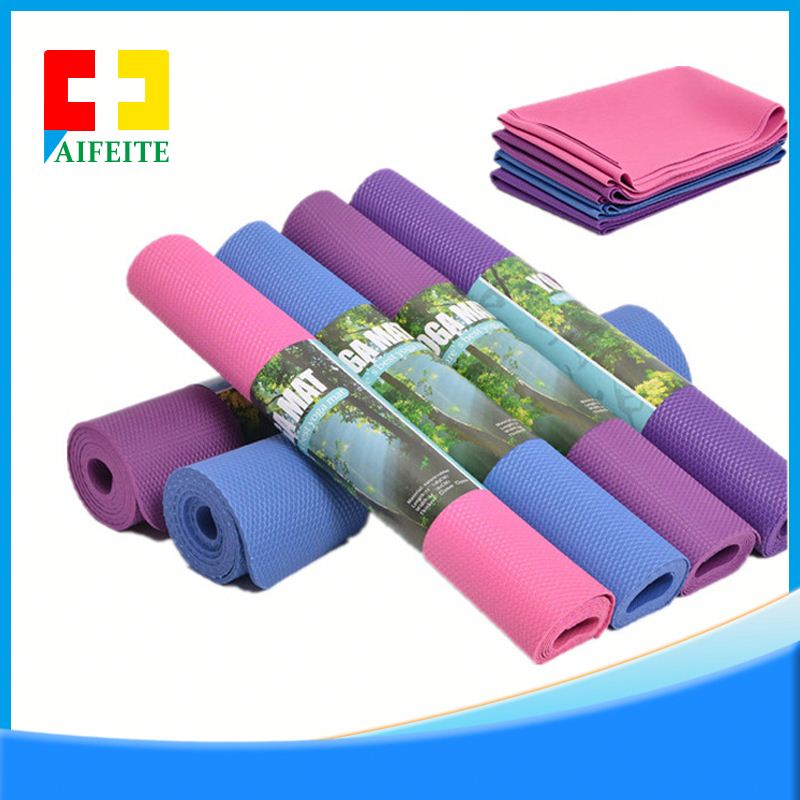 Hot Sale custom embossing eco black tpe yoga mat manufacturer for yoga