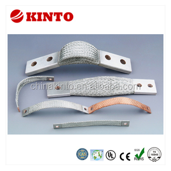 Copper strand wire braid flexible connector, braidded copper tape