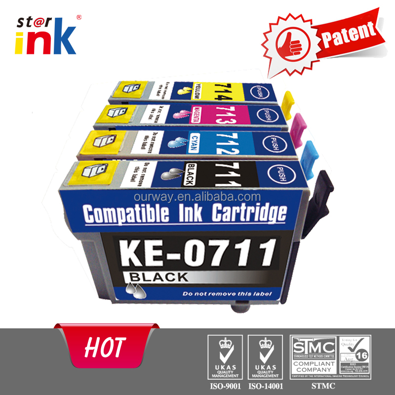 New in market computer printer ink cartridges for epson T0711