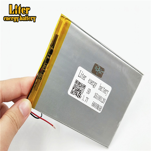 Wholesale ultra thin 3.7V 35100120 6000mAh lipo <strong>batteries</strong> rechargeable lithium ion polymer