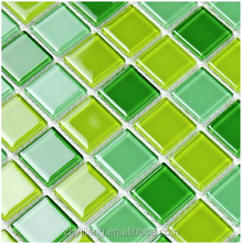 Glass mosaic tile picture 30x30 colorful mix mosaic tiles for swimming pools