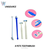 double sided pet toothbrush with two heads