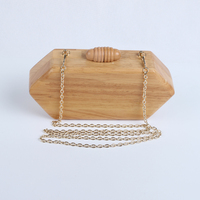 Vintage style evening clutches and purses Classical wooden clutch bags