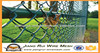galvanized PVC coated chain link fence ( diamond wire mesh )