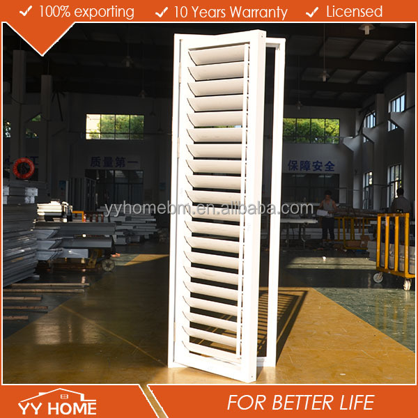 Decorated aluminium interior security shutter