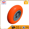 Rubber wheel direct manufactures for hand trolley wheel,PU wheel 4.00-8