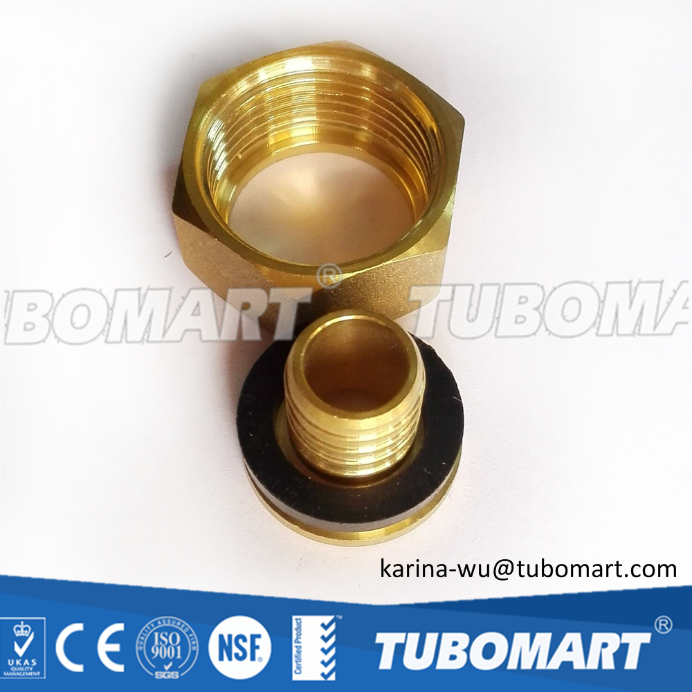 Tubomart NPT plumbing materials brass end cap brass nipple fittings with high quality