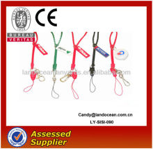 2015 New design plastic Zipper lanyard