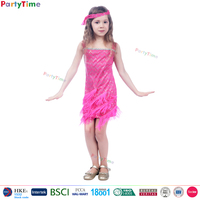 wholesale fancy dress china manufacturer child halloween dresses cheap kids rose fringed flapper dress