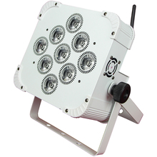 wireless DMX and battery power 6in1 15w rgbwa uv 9pcs led par light