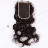 Top selling 10inch short indian remy hair cheap lace closure piece