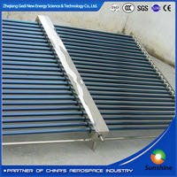Solar water heater collector glass vacuum tube with mainfold solar collector 500L mainfold solar collector