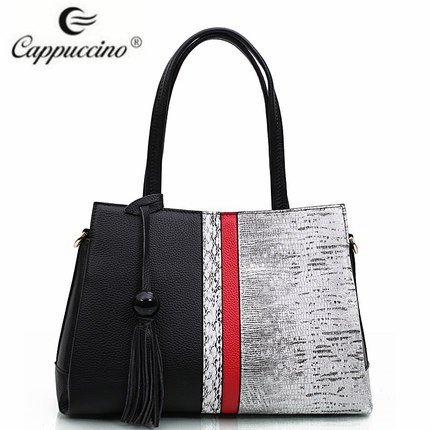 2017 Cappuccino New collection wholesale designer grade A leathet lady hobo tote