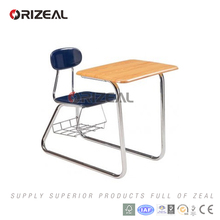 orizeal 2017 new style product electroplating chroming combined combo school desk and chair