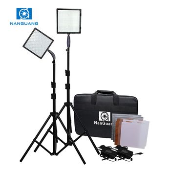 NANGUANG led outdoor light 70W CN-576 2kit+T Portable photo studio light Kit for Photo and Video with battery ,carrying bag