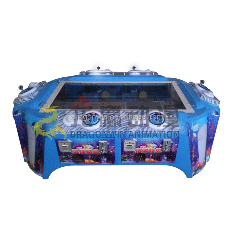 Four person fish hunter game machine for kids