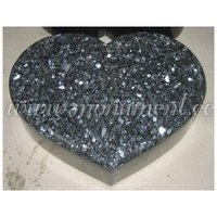 Blue Pearl heart shaped Granite Headstone