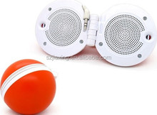 Hottest cheap price promotional gift folding mini ball speaker with 3.5mm audio jack