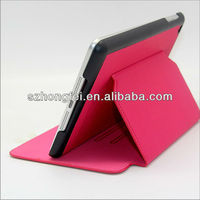 Newest dormancy function leather case cover for microsoft surface tablet with stand for mini ipad &ipad mini