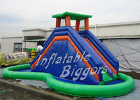 Jungle Commercial Inflatable Water Slides With Pool Water Park Amusement