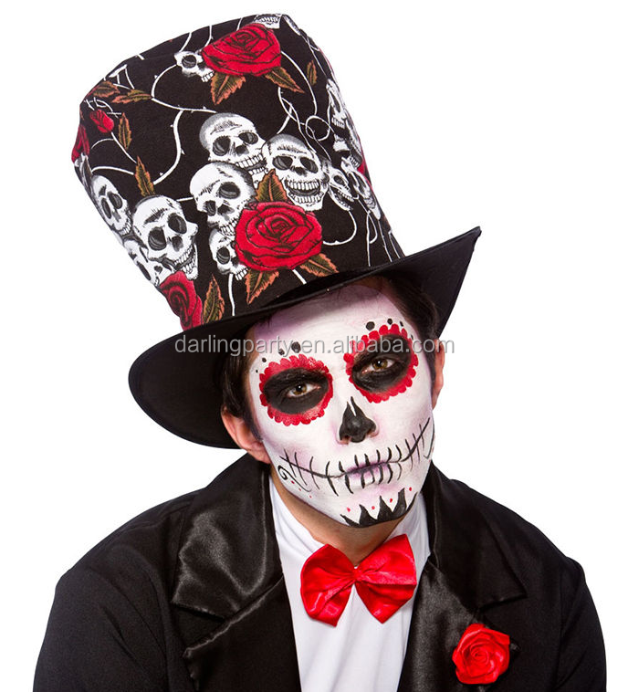 Adult Day Of The Dead Top Hat for halloween