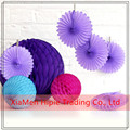 Lavender Lilac Paper honeycomb Flowers for Wedding Birthday Valentine Party Garden Decor