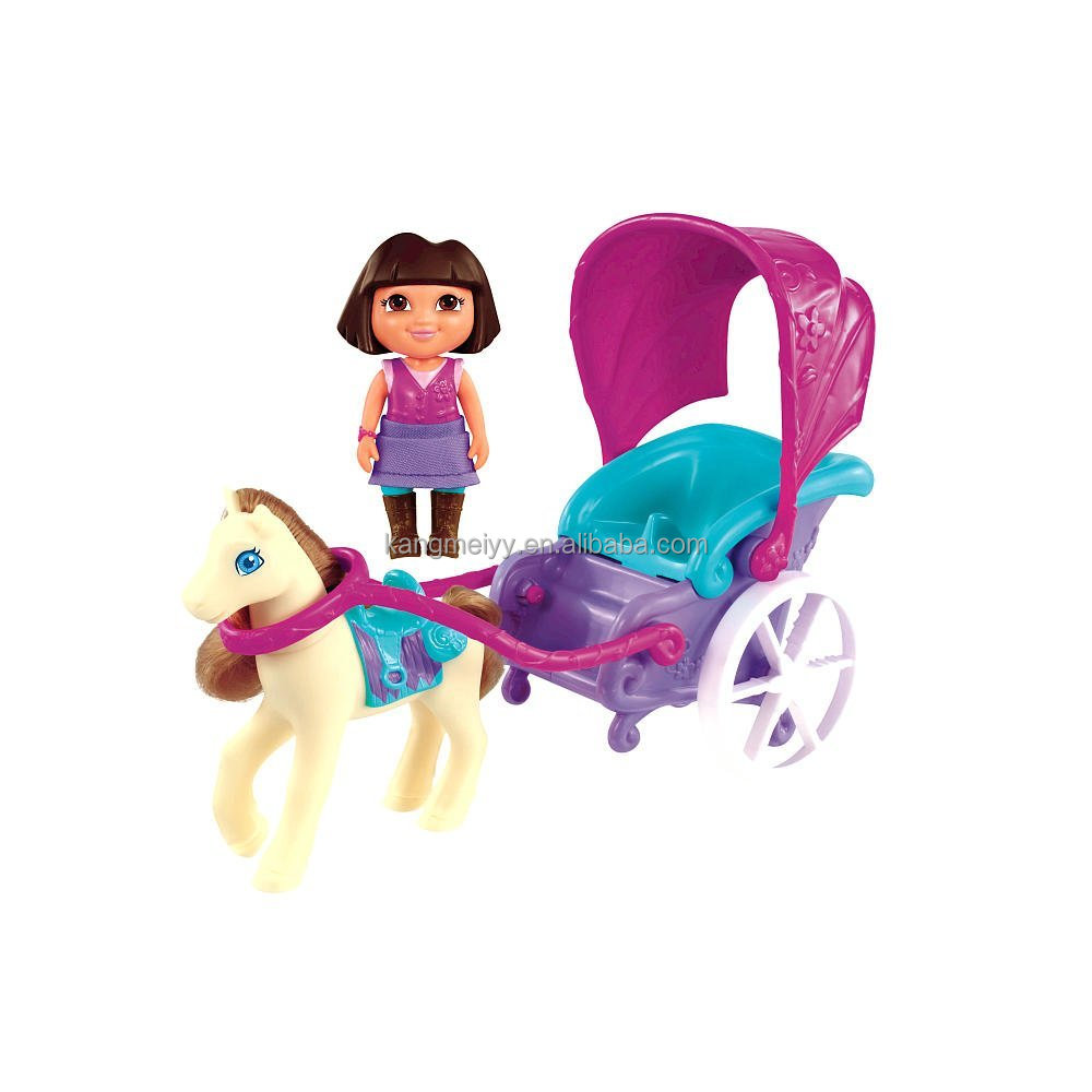 NEW!! Dora the Explorer Magical Carriage Ride Playset cartoon toys 8 inches