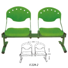 Attractive design cheap waiting room chairs Powerful waiting chair for 2 person U228-2
