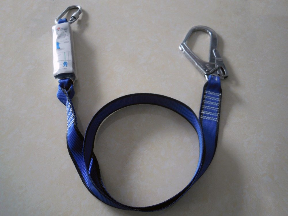 Single-Leg Tie-Back Web With Snap Hook protection lanyard