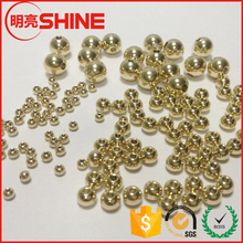 China bead manufacturers gold plated 5mm stainless steel beads with 1.5mm or 2mm hole for jewelrys making
