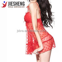 Full Sexy Image of Ladies Sleepwear Open up Hot Sex Image Lingerie Women Dress JS133 Accept OEM