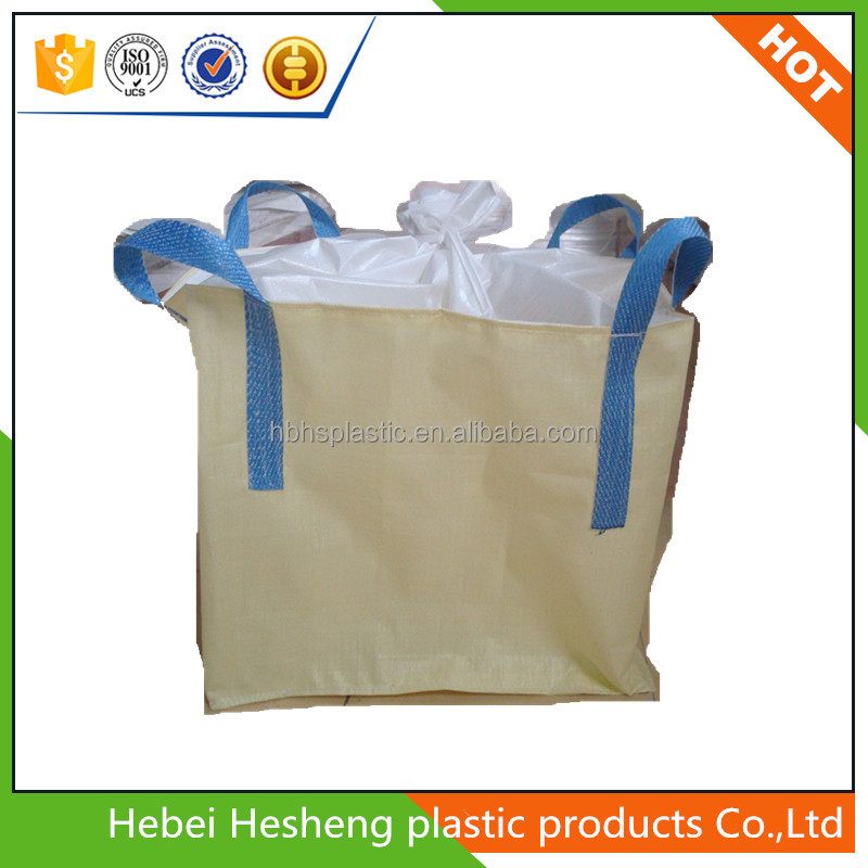 PP woven Big Bulk Jumbo Bags with cross corner loop