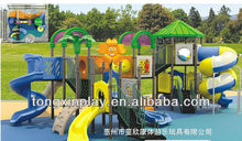 outdoor playground slide cartoon roof TXL-008B