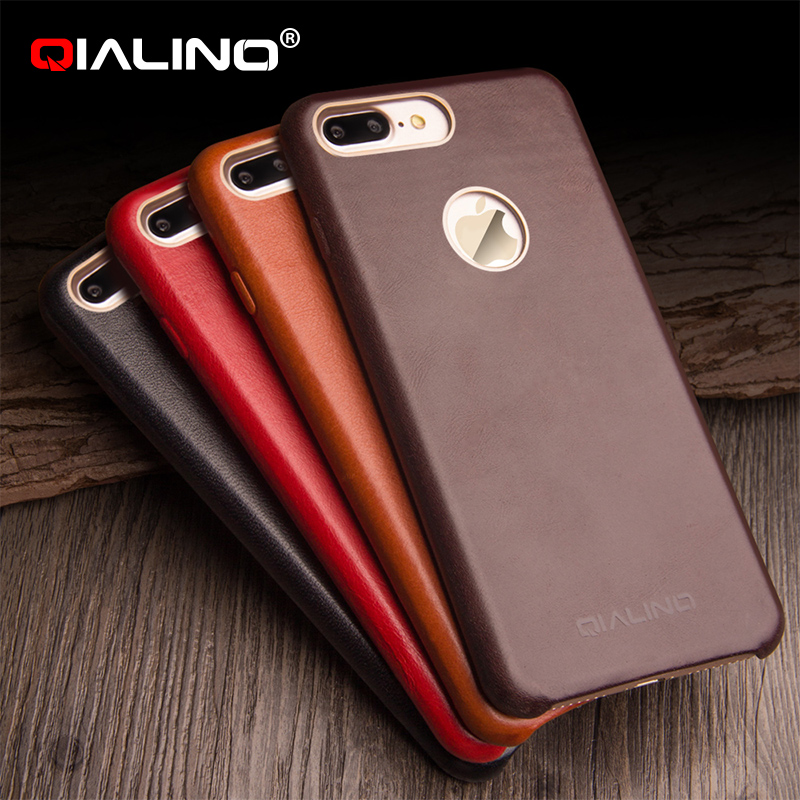 QIALINO Brand New Premium Ultra Thin Luxury Leather Case For iPhone7, For iPhone 7 Genuine Leather Case