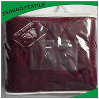2014 hot selling shaoxing supersoft plush fleece blanket with high quality