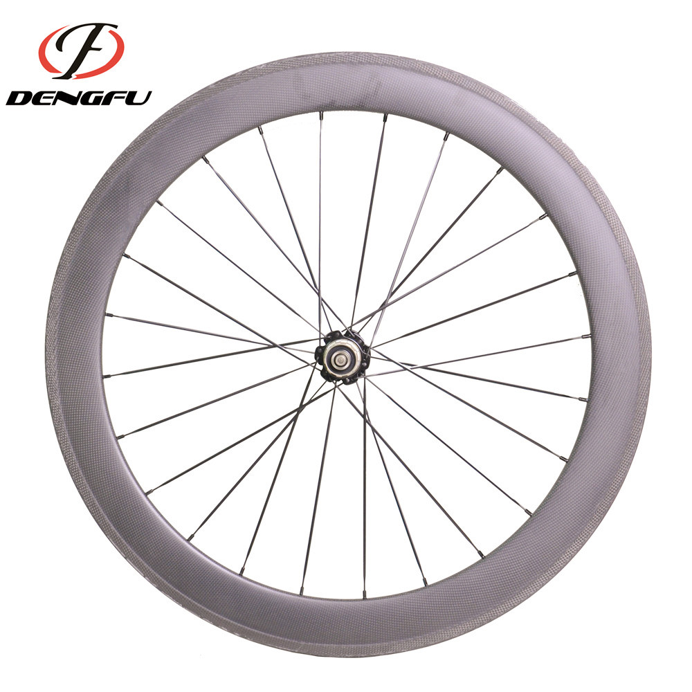 2017 deng fu 60mm carbon wheels matte or glossy carbon wheels with UD finish weave