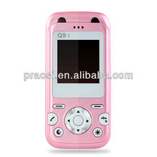 New type Mini kids cell phone baby mobile color blue pink