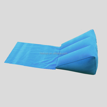 Flocking inflatable wedge pillow for travel