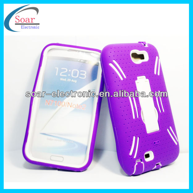 hot selling galaxy note 2 kickstand back cover case