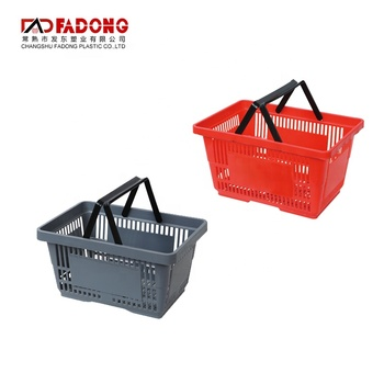 Quality assured colored plastic laundry baskets with double handles