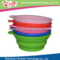 2013 Colorful Design Best Selling Silicone Folding Dog Water Bowls