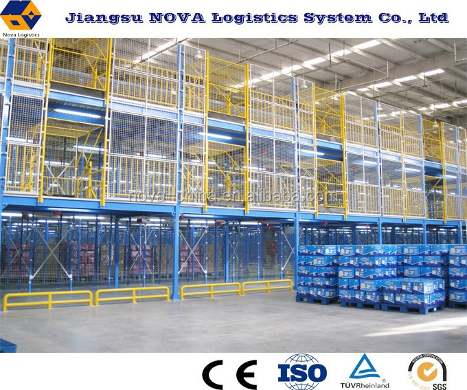 Steel adjustable heavy duty mezzanine floor panels from NOVA