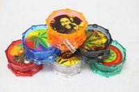 Mini Tobacco Grinder Hard Plastic Material Dry Herb Muller Crusher Powerful Magnets for A Tight BOB Marley herb Grind Hot Sale